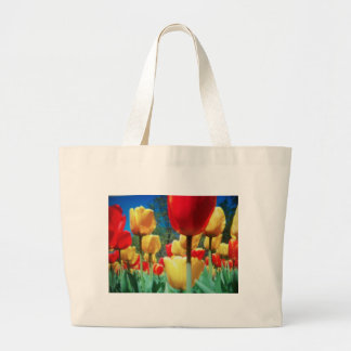 tulipes jaunes et rouges sac de toile