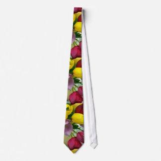 Tulipes néerlandaises peintes cravates personnalisées