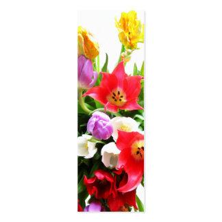 Tulipes romantiques cartes de visite professionnelles