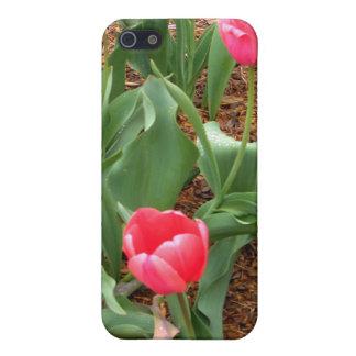 Tulipes roses de ressort par CricketDiane Coque iPhone 5