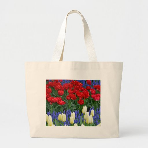 Tulipes rouges et blanches de ressort sac