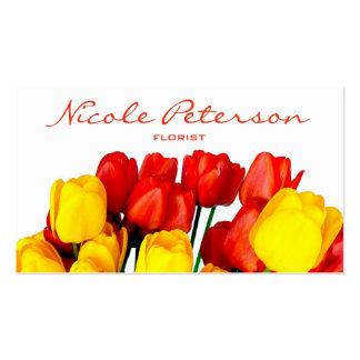 tulipes rouges et jaunes - fleuriste carte de visite standard
