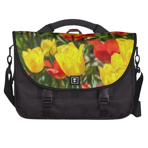 Tulipes rouges et jaunes sacs pour ordinateurs portables