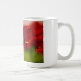 Tulipes rouges et jaunes mugs à café