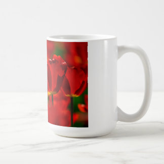 Tulipes rouges et jaunes mug à café