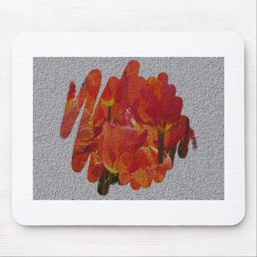 Tulipes texturisées de ressort tapis de souris