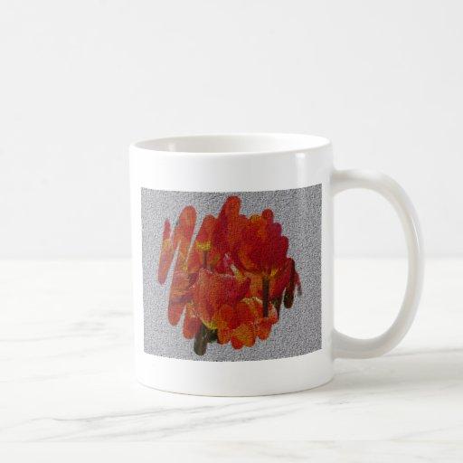 Tulipes texturisées de ressort tasse à café
