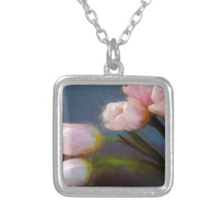 Tulips 1 silver plated necklace