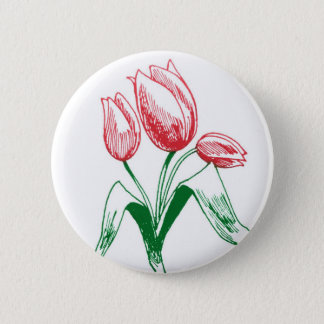 Tulips 2 Inch Round Button