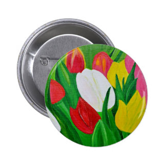 Tulips 2a 2 inch round button
