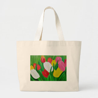 Tulips 2a large tote bag