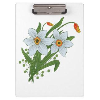 Tulips and Daffodils Flowers Clipboard
