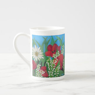 Tulips and Daisies Tea Cup
