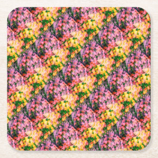 Tulips and Lilacs Square Paper Coaster