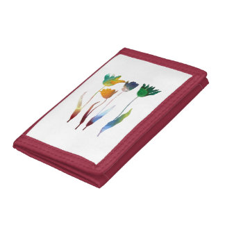 Tulips art trifold wallet