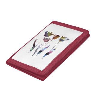 Tulips art trifold wallets