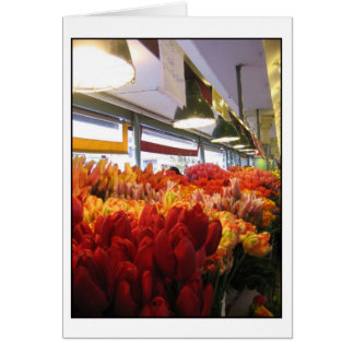 Tulips at Pike Place Market, Seattle Greeting Card