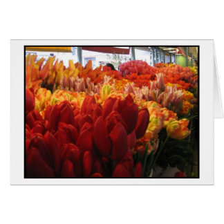 Tulips at Pike Place Public Market, Seattle Greeting Card