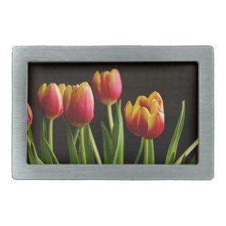 tulips belt buckle