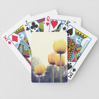 tulips bicycle playing cards