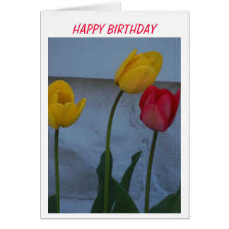 Tulips & Birthday Cake Card
