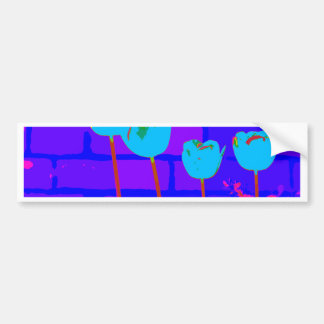 TULIPS BLUE BUMPER STICKER
