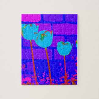TULIPS BLUE JIGSAW PUZZLE