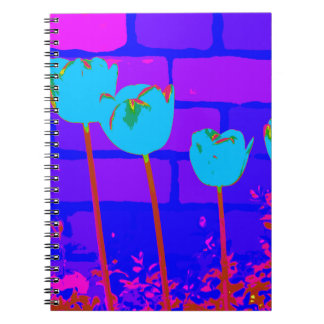 TULIPS BLUE SPIRAL NOTEBOOK