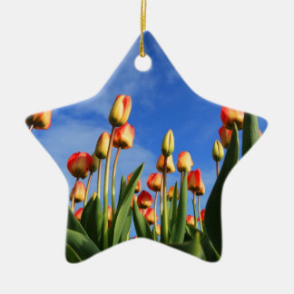 tulips ceramic ornament