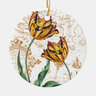 Tulips Chic Ceramic Ornament