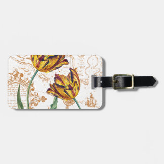 Tulips Chic Luggage Tag
