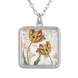 Tulips Chic Silver Plated Necklace