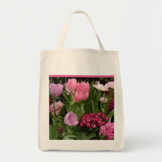 Tulips Daisies Hyacinths Tote Bag