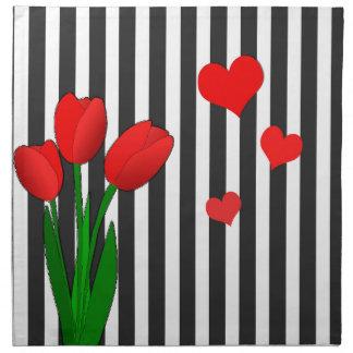 Tulips design napkin