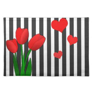 Tulips design placemat