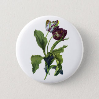 Tulips Drawn From Nature by Gerard van Spaendonck 2 Inch Round Button
