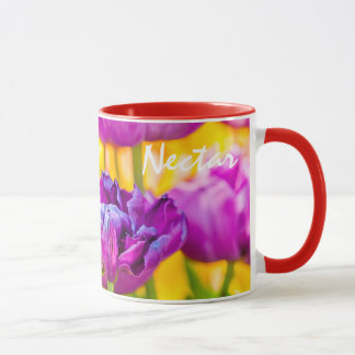 Tulips Enchanting Deep Pink Mug