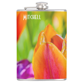 Tulips Enchanting Hip Flask