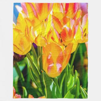 Tulips Enchanting Purple Fleece Blanket
