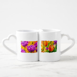 Tulips Enchanting Violet Coffee Mug Set