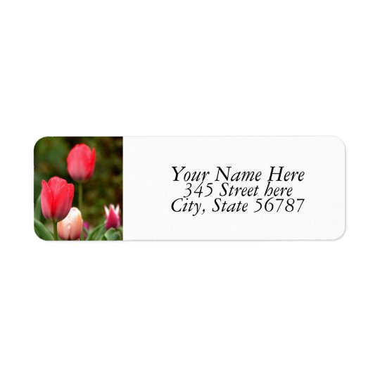 Tulips field Return Address Labels