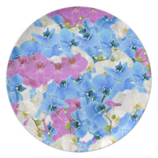 Tulips Floral Colorful  Melamine Plate