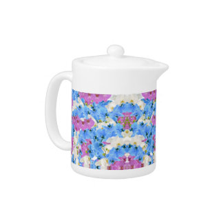 Tulips Floral Colorful  Teapot