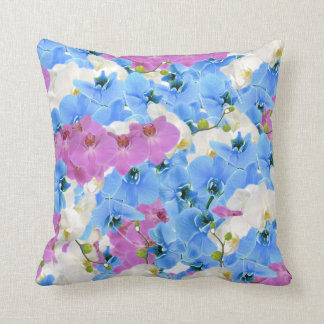 Tulips Floral Colorful Throw Pillow