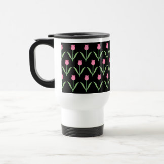 Tulips Floral Pattern Travel Mug