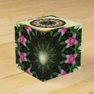 Tulips Flower Mandala, Floral mandala-style Favor Box