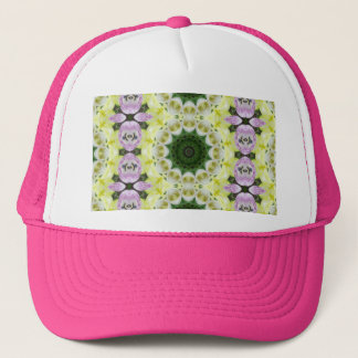 Tulips Flower Mandala, Floral mandala-style Trucker Hat