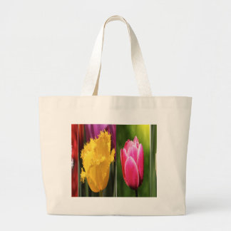 Tulips Flowers Large Tote Bag