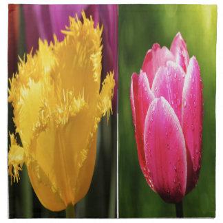 Tulips Flowers Napkin