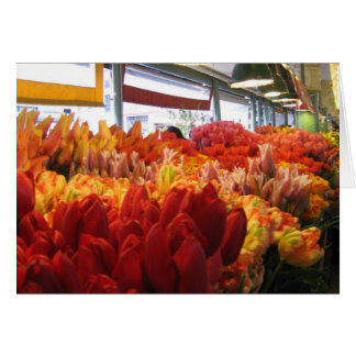 Tulips for Sale in Pike Place Market Greeting Card